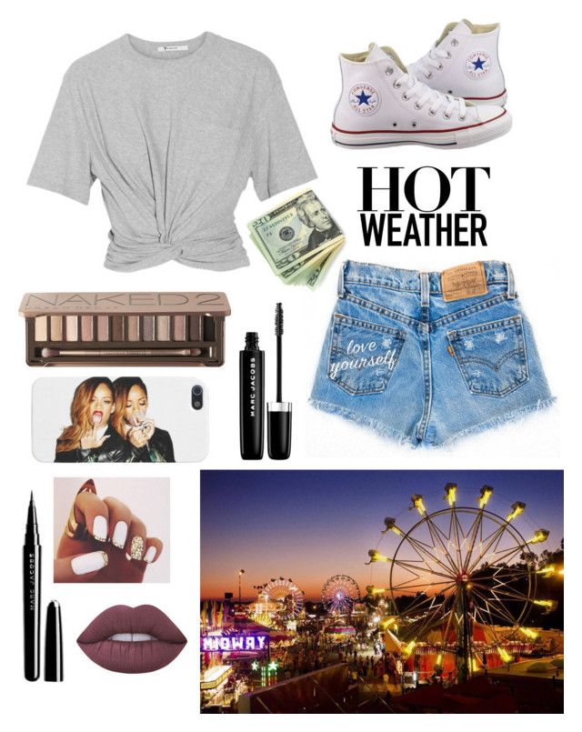"""Fair Outfit #1! New Series!"" by epitomeofme ❤ liked on Polyvore featuring T By Alexander Wang, Converse, Urban Decay, Marc Jacobs and Lime Crime"