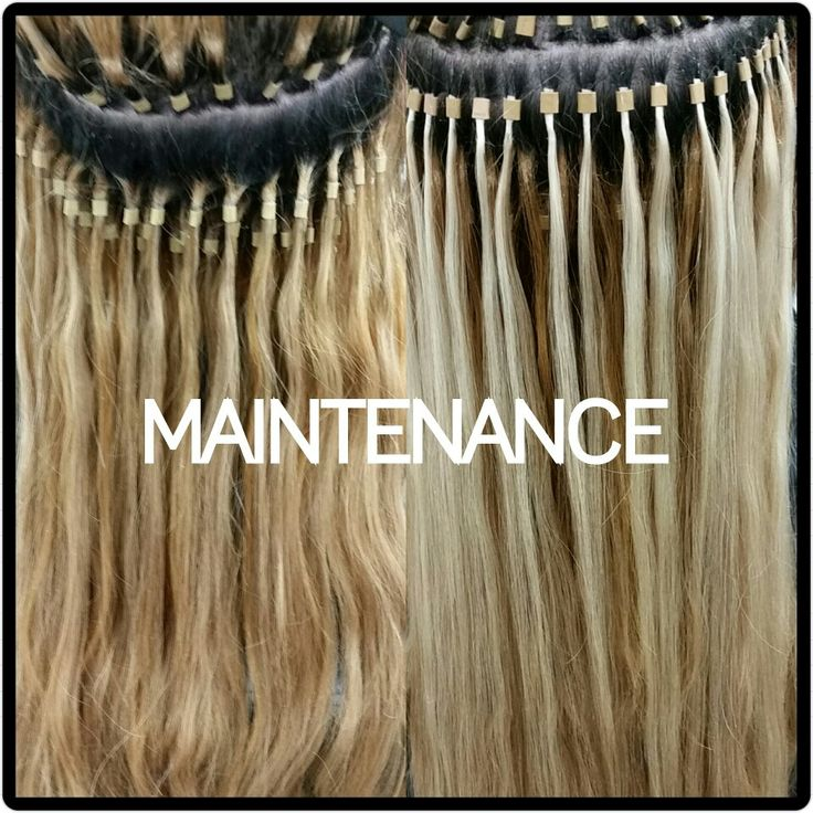 Dallas Hair Extensions - Before and after maintenance 469-740-7425