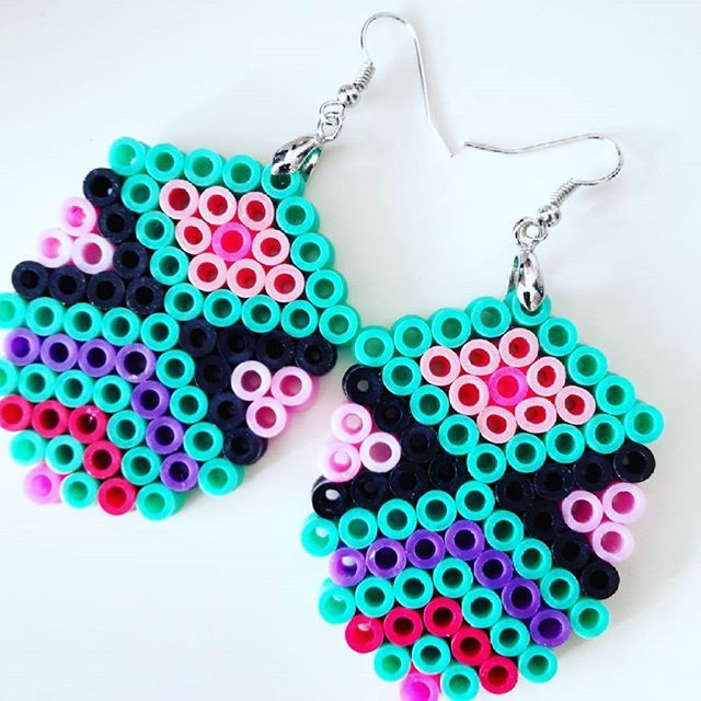 Earrings hama beads by marens