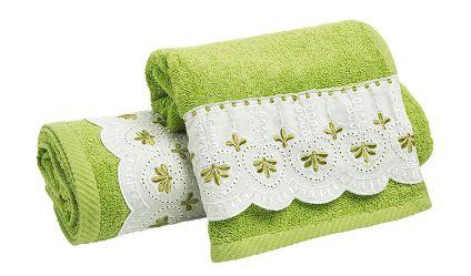 Juego Toallas Jacinta Verde. Visítanos en tuakiti.com #toallas #towels #juegotoallas #towelset #decoracion #homedecor #hogar #home #baño #bathroom #tuakiti