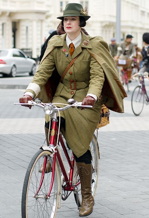 ady taking part in the Tweed Run