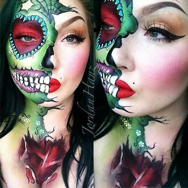 Amazing day of the dead makeup using Sugar pill cosmetics