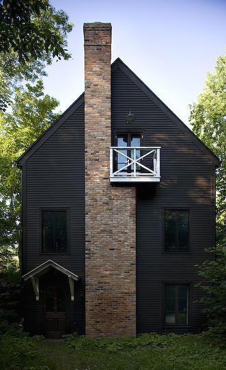 Maison Jean Longpré: Cabin, Idea, Black House, Exterior, Brick, Architecture, Design