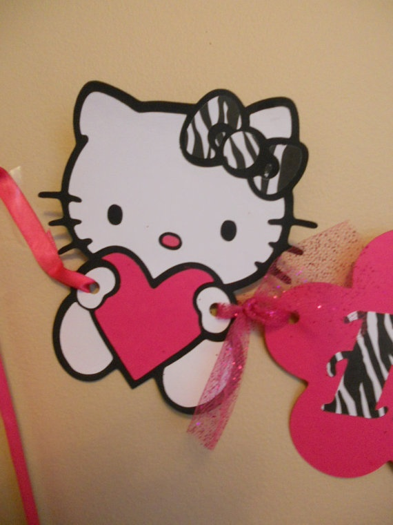 Hello Kitty birthday banner Hello kitty birthday by SassyCreationz, $25.00
