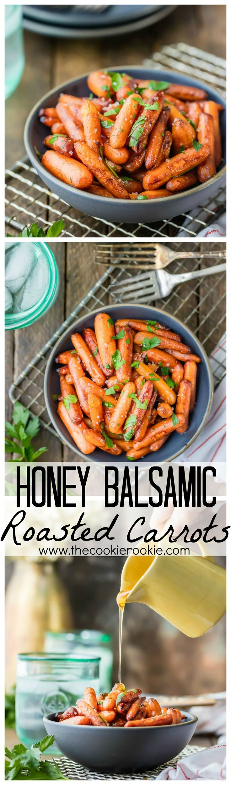 Honey Balsamic Roasted Carrots | The Cookie Rookie | Bloglovin'