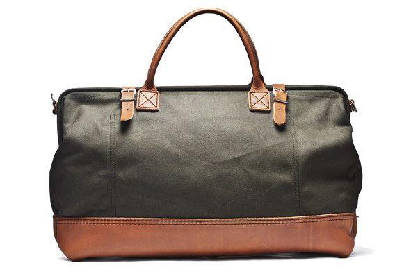 Handmade Canvas & Leather Weekend Bag by Kaufmann Mercantile