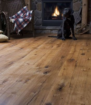 wide plank rustic flooring | Reclaimed Wood Flooring | Antique Wide Plank - Heritage