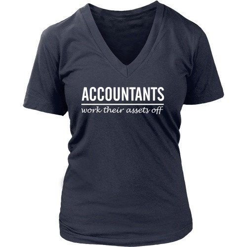[product_style]-Accountant T Shirt - Accountants work their assets off-Teelime