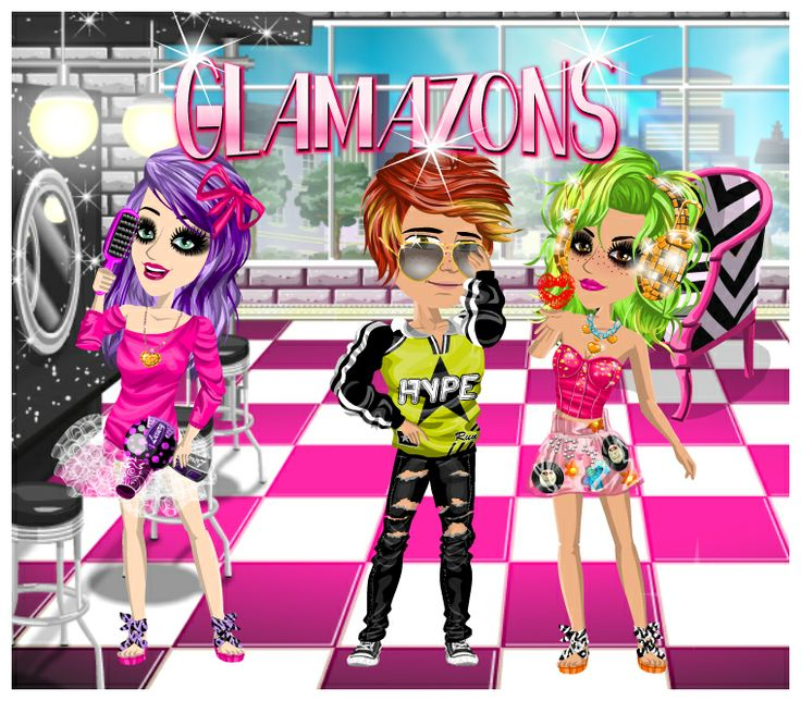 Glamazons weekly theme on #moviestarplanet