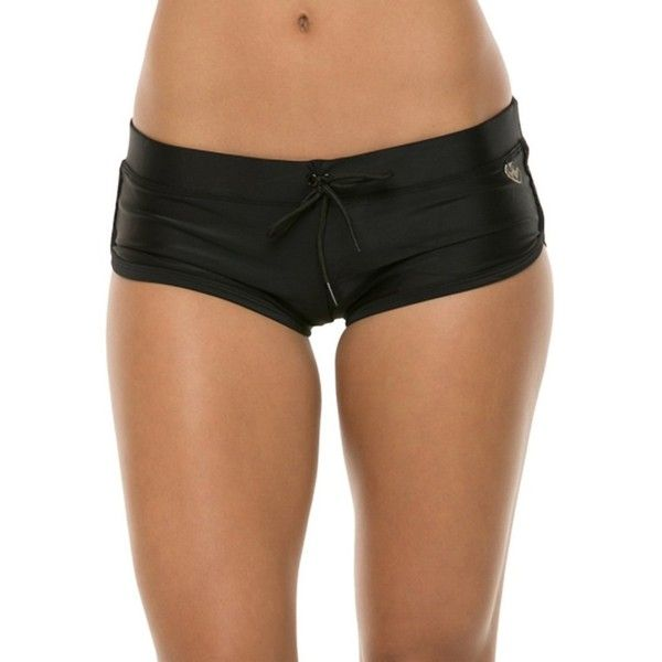 Body Glove Swimwear Smoothies Sidekick Sporty Boy Short Bikini Bottom ($50) ❤ liked on Polyvore featuring swimwear, bikinis, bikini bottoms, black, boy shorts bikini, body glove swimwear, sporty bikinis, boy short bikini bottoms and boy short bikini