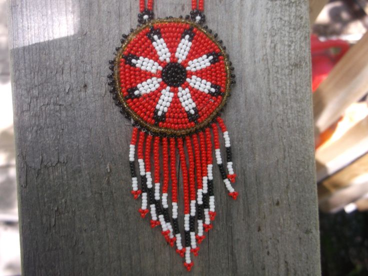 eagle feathers necklace,native american beadwork by deancouchie on Etsy