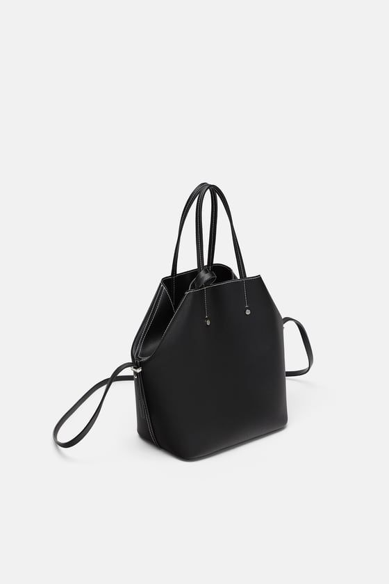 0efdc5d868 ZARA - WOMAN - SOFT TOTE BAG WITH TOPSTITCHING