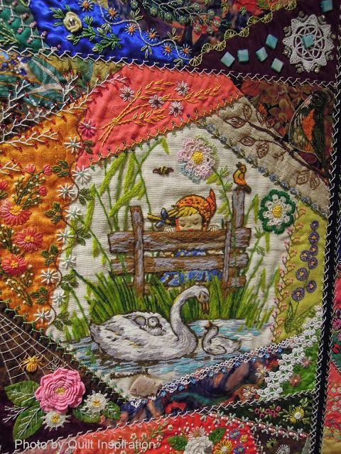"""Quilt Inspiration: The Advent of Christmas Day 16: Little Darlings, 55 x 82"""", by Gerlinde Hruzek, Sun City, Arizona"""