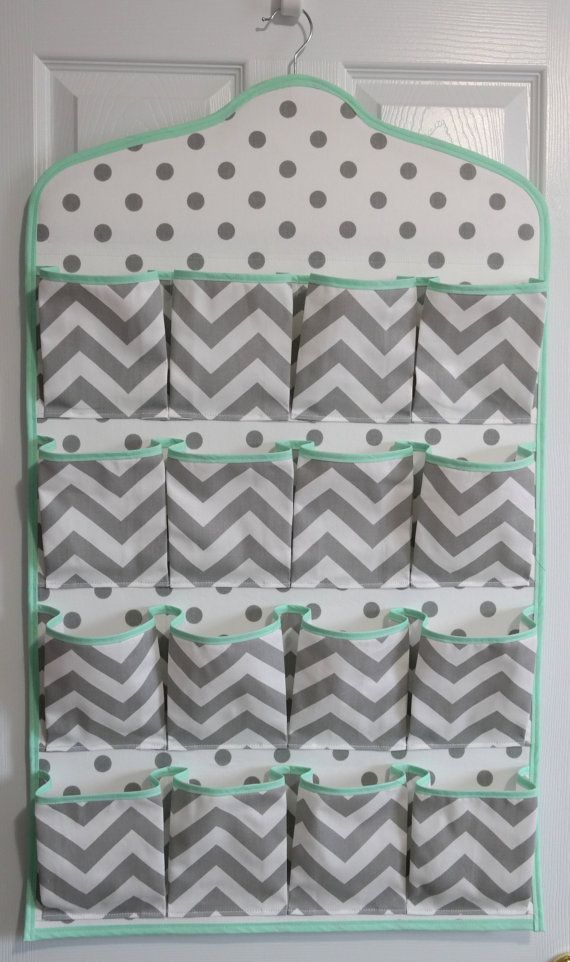 SALE Mint & Gray Chevron Baby Nursery by TheSilverButterfly