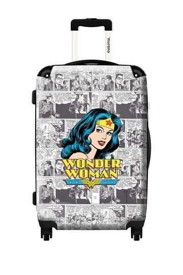 Woohoo!!!  LOVE!!  Wonder Woman Hard Case Luggage by ikase on @HauteLook