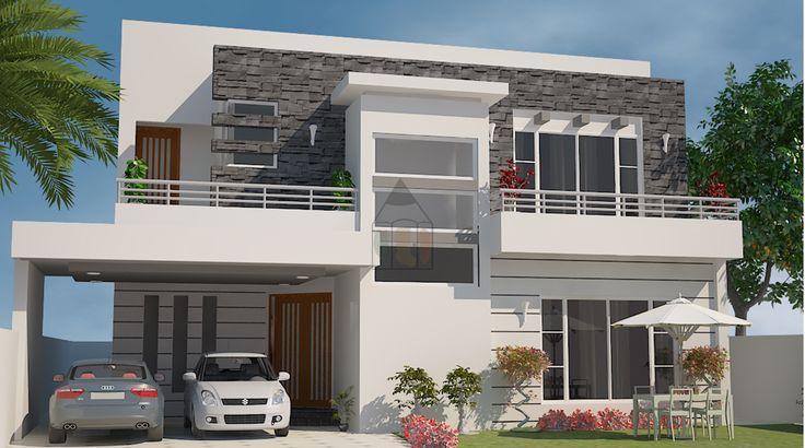 Front Elevation Of A Bungalow : One kanal house plan is pakistani style design in nature