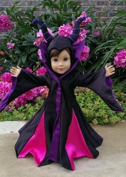 Maleficent Costume for 18 dolls like American by SewDolledUp81