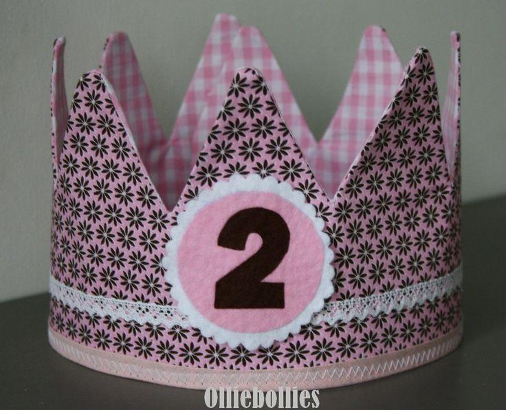 #Verjaardagskroon met afneembaar cijfer www.olliebollies.nl