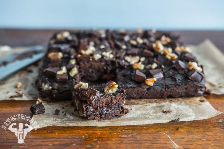 Brownies de Frijoles Negros sin Harina