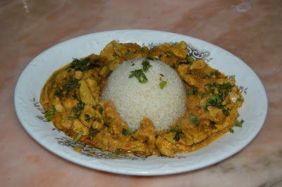 Culina Culinae: POLLO AL CURRY CON LECHE DE COCO