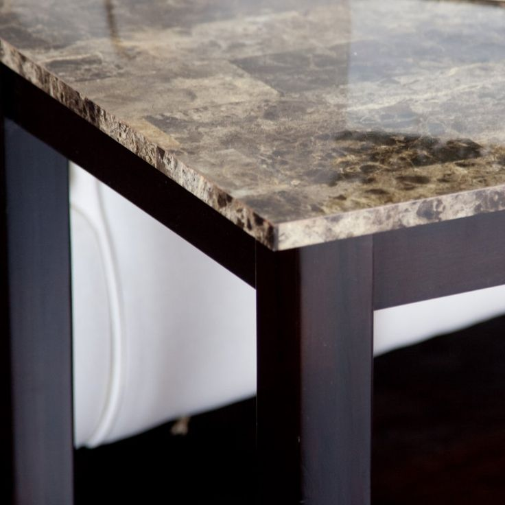 Palazzo Faux Marble End Table - The Palazzo End Table knows your couch is…