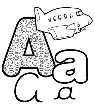 Letra A de Avião