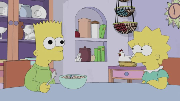 """Bart: The sum of the square roots of any two sides of an isosceles triangle is equal to the square root of the remaining side. Lisa: That's not right. Bart: Yes, it is. They're my lines as the Scarecrow in """"The Wizard of Oz"""". (puts on his straw hat)"""