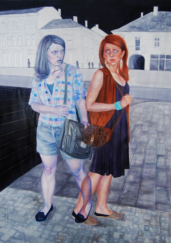 Siamese twins by Timea Mitroi, via Behance