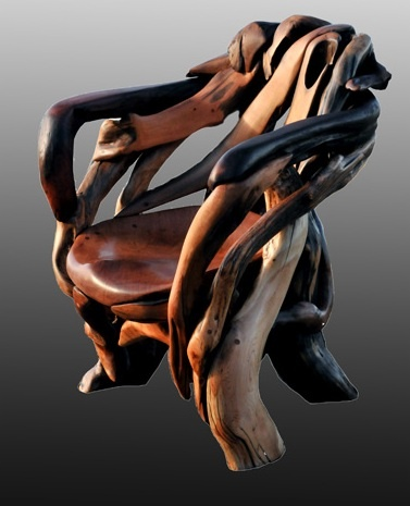 Jeffro Uitto, New Nature, 2012, Salvage roots, red cedar