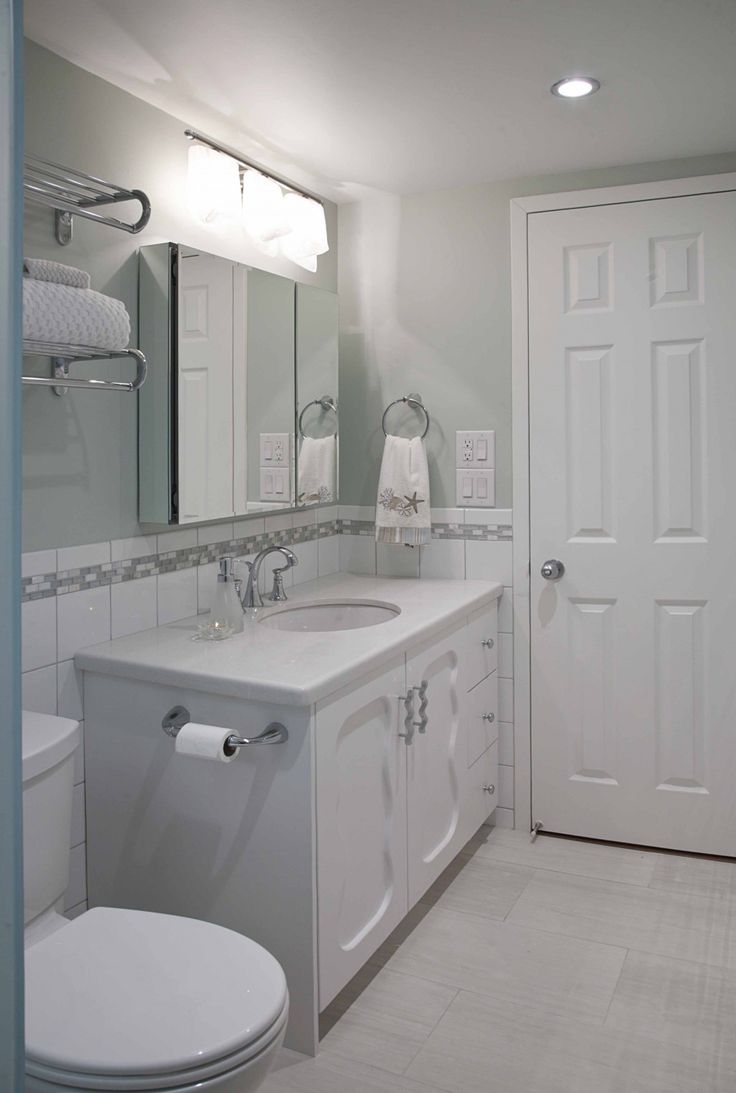 Narrow Bathroom Vanity With Modern Narrow Vanities With Single Sink Under Mount And Large Mirror
