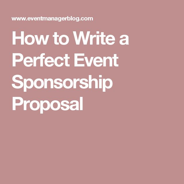 How to Write a Perfect Event Sponsorship Proposal
