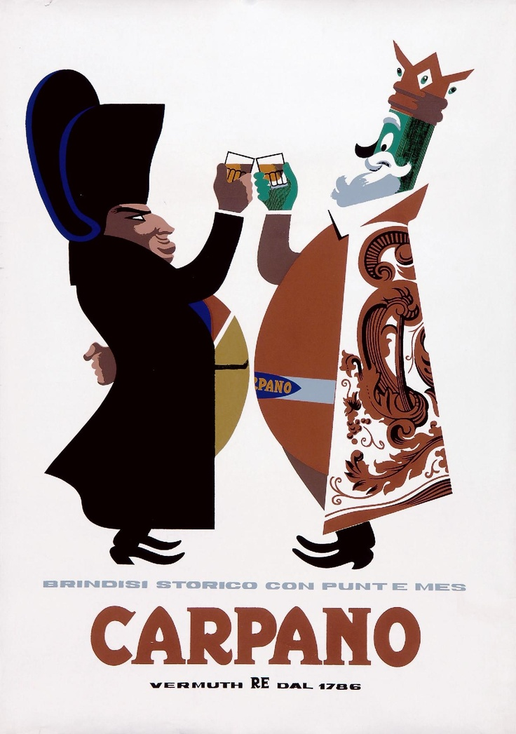 Carpano  ARMANDO TESTA - Serigrafia - 1955 ca