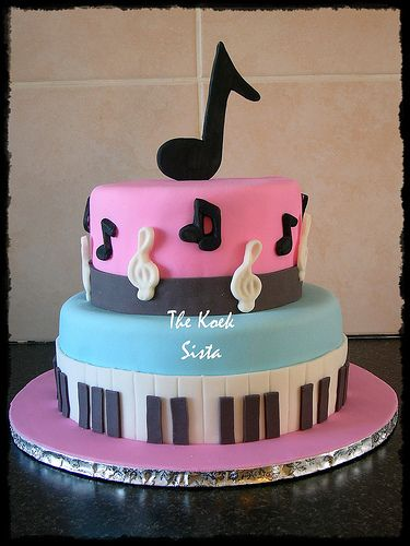 Cake Decorations Music Theme : 276 best Cakes for Music Lovers images on Pinterest ...