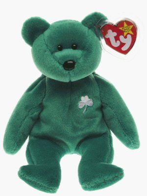 Ty Beanie Babies - Erin the Irish St Patricks Teddy Bear, have one of these somewhere - my Erin-Bear