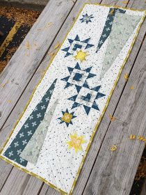 Tree and star table runner        Fabric of My Life: Inspiration time! - The Heartland Blog Tour