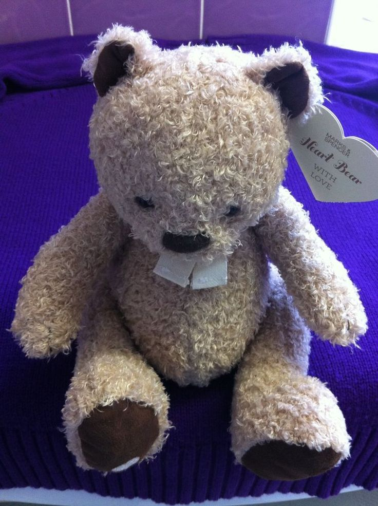 Retired Supersoft Marks and Spencer Heart Bear. BNWTO. Double lined for safety.