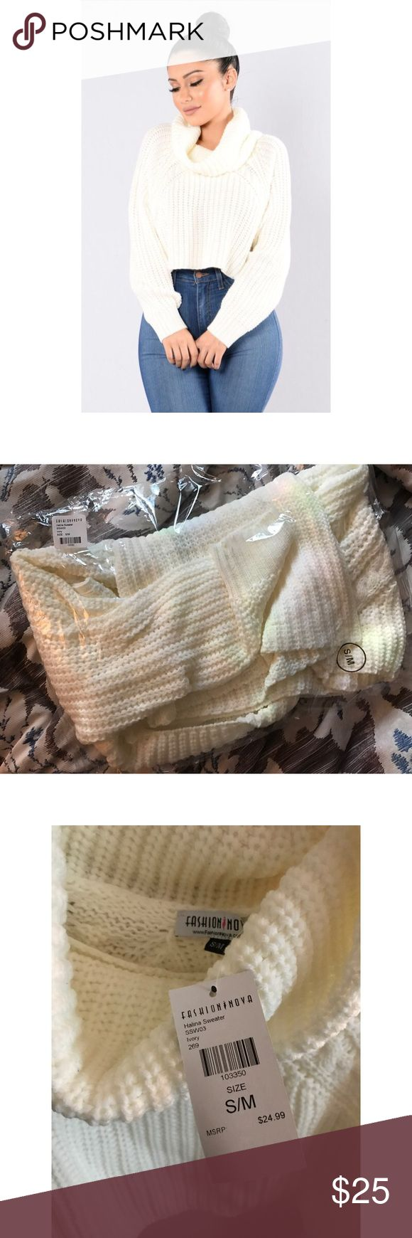 NWT Halina Sweater As seen on Cardi B's IG  NWT cropped turtle neck sweater. Brand new, unused and ships in original packaging. Price firm Fashion Nova Sweaters Cowl & Turtlenecks