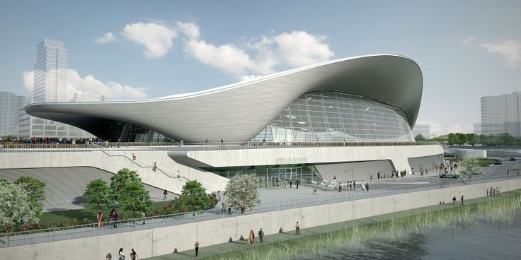 The London Aquatic Center in Legacy mode.