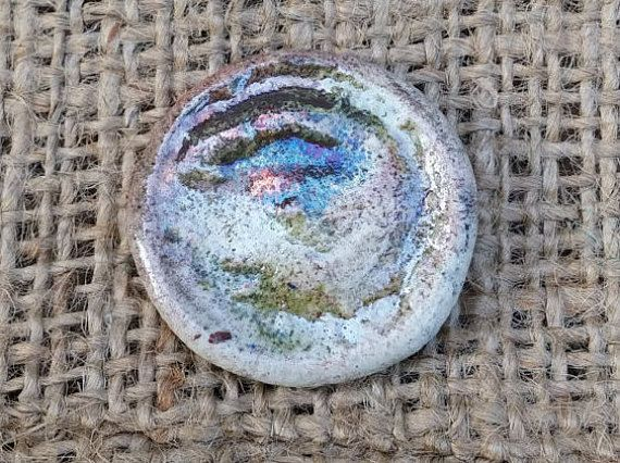 Ceramic Oval button 1 1/8 28mm round button by BlueBirdyDesign