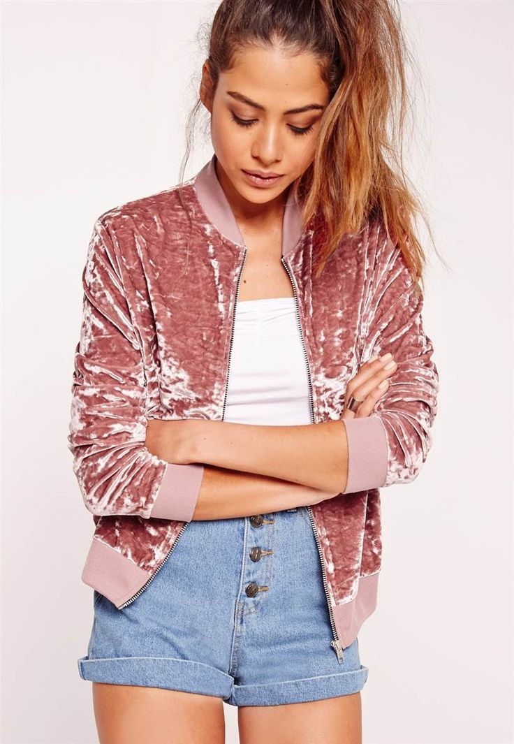 Missguided Velvet Bomber Jacket $40