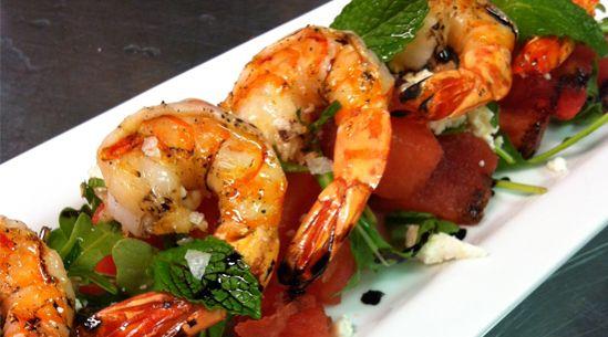 shrimp and watermelon salad