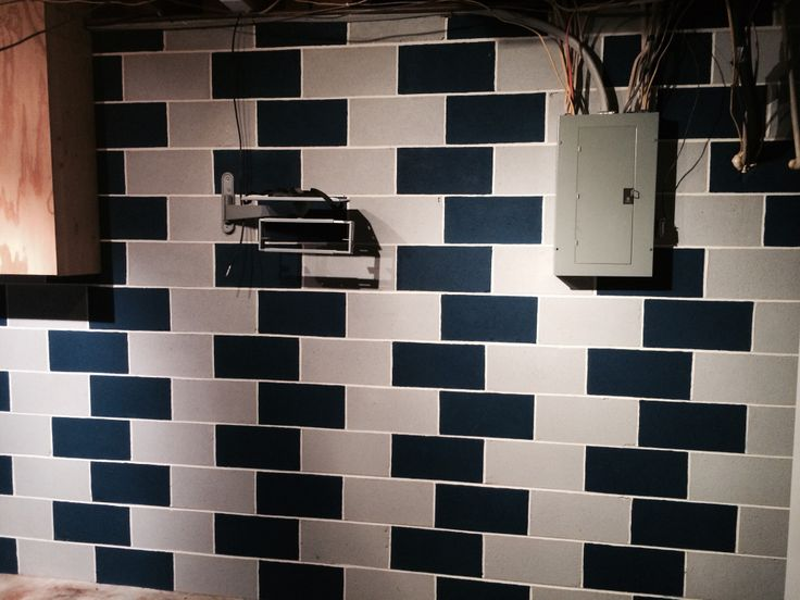 16 best home cinder block wall ideas images on pinterest for Block basement walls