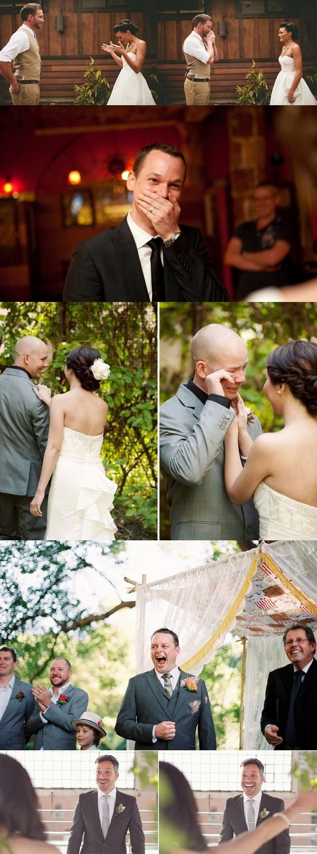 こんなに喜んでもらえたら幸せですね…♡♡ When these grooms saw their brides for the first time <3