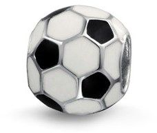 Bling Jewelry Soccer Ball Charm 925 Sterling Silver European Football Sports Bead.