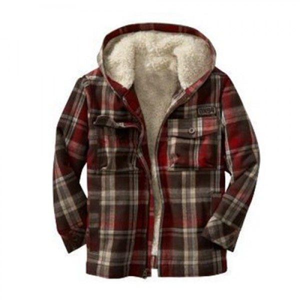 Fur Collared Boys #Flannel #Jacket