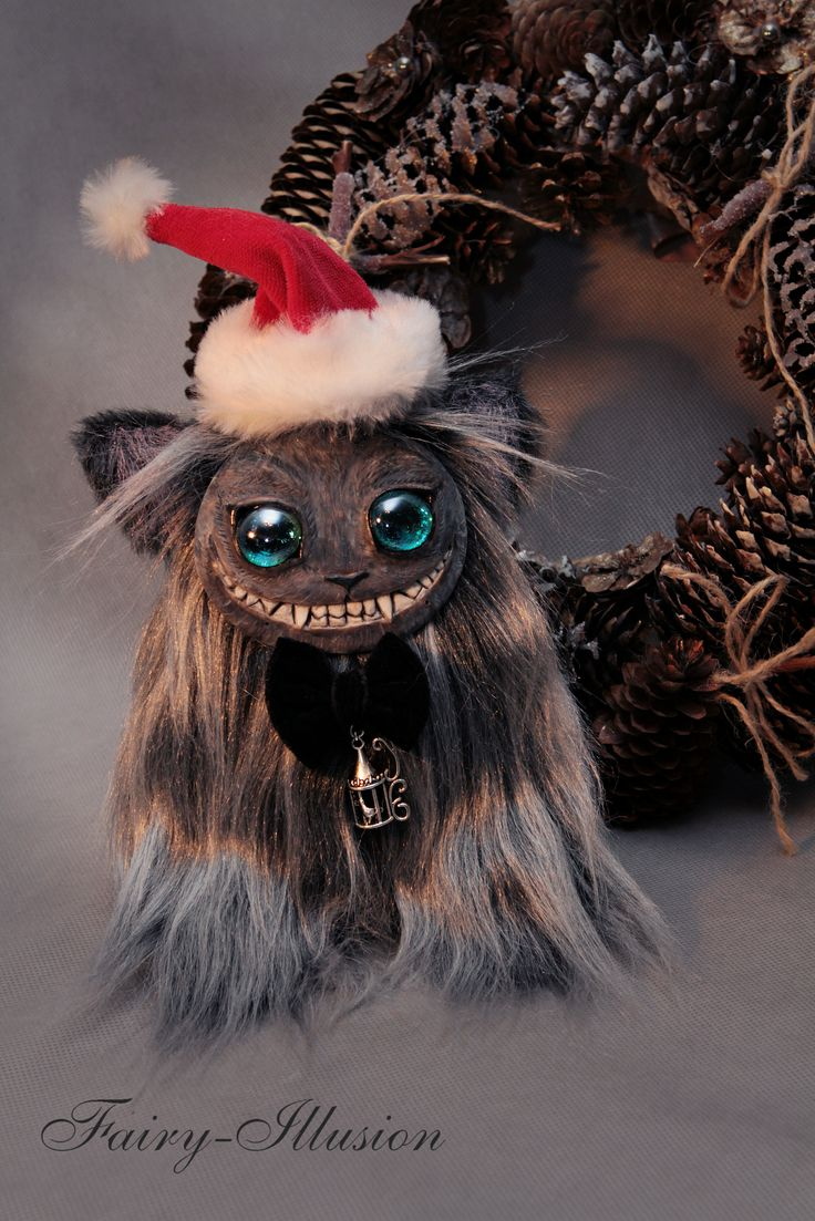 Cheshire cat. Cute and crazy monster doll, a fairy creature from Fairy-Illusion. Handmade, author's doll.