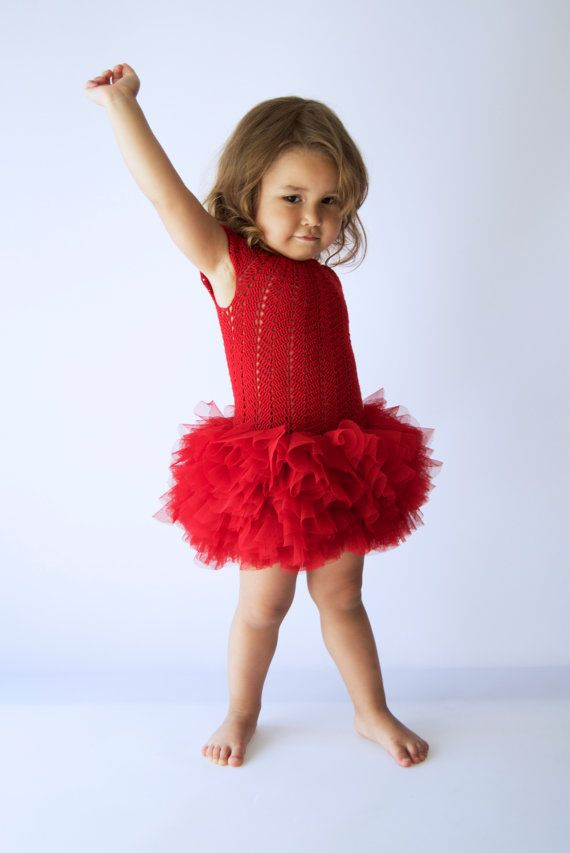 Cup sleeve tutu dress with fluffy petals tulle от AylinkaShop