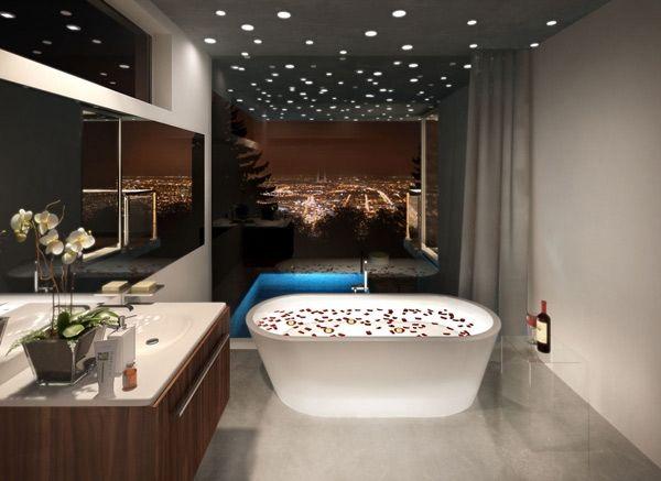 Moderne Deckenpaneele Machen Den Wohnraum Komfortabel Und Gemutlich Luxus Badezimmer Badezimmer Design Luxus Moderne Hauser