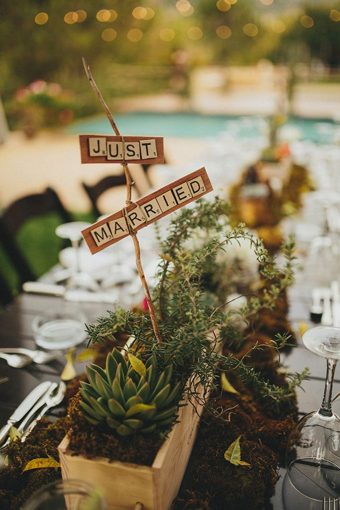 This gorgeous rustic centerpiece is so simple to create a