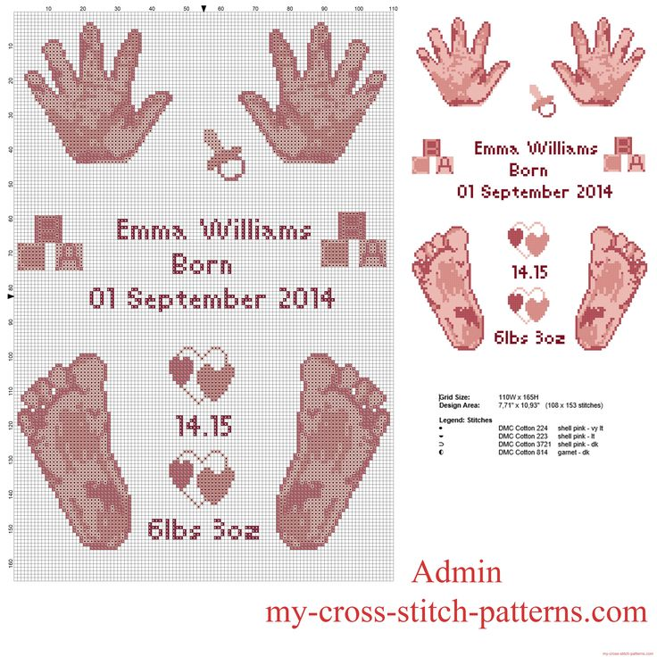 999 Best Images About Crafts Baby Cross Stitch On